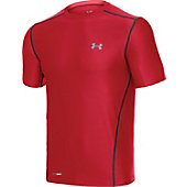 Under Armour Men's Red Fitted Short Sleeve Shirt