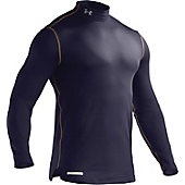 Under Armour Men's ColdGear Navy Fitted Mock Shirt