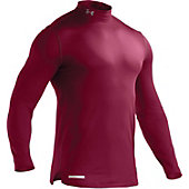 Under Armour Men's ColdGear Maroon Fitted Mock