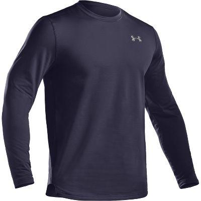 Under Armour Men's Long Sleeve ColdGear Fitted Crew Shirt 1215484NAVXL