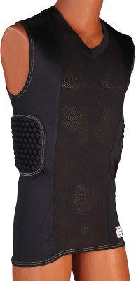 Stromgren Women's V-Neck Rib/Spine Compression Shirt