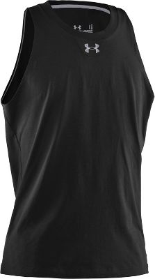 Under Armour Men's Basketball Charged Cotton Tank 1228794BLKSM