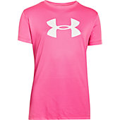 Under Armour Girls Big Logo Tech Shirt