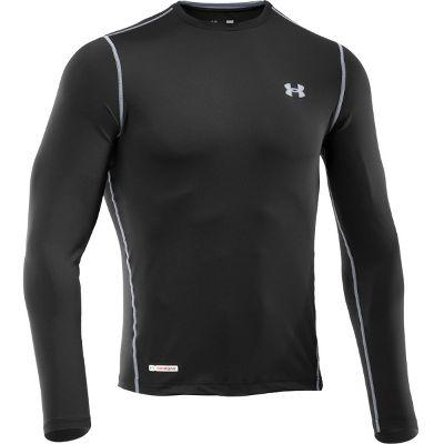 Under Armour Men's HeatGear Sonic Fitted Long Sleeve Shirt 1236250BLK3XL