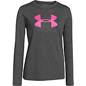 Under Armour Girl's Big Logo Tech Long Sleeve T-Shirt