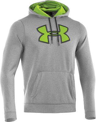 Under Armour Mens Fleece Storm Core Big Logo Hoodie 1241995GGNL