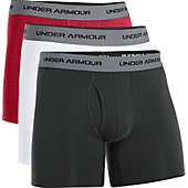 "Under Armour Men's Charged Cotton Stretch 6"" BoxerJock (3 Pa"