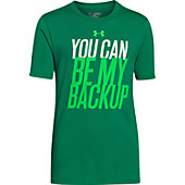 "Under Armour Youth Boys""You Can Be My Backup"" Short Sleeve T"