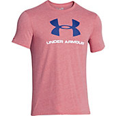 Under Armour Men's Charged Cotton Sportstyle Logo V T-Shirt