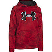 Under Armour Boy's Storm Big Logo Blocked Armour Fleece Hood