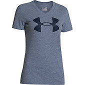 Under Armour Women's Charged Cotton Big Logo V-Neck Shirt