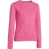 Under Armour Girl's Long-Sleeve Rival Cotton Crew Shirt