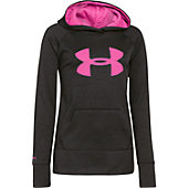 Under Armour Youth Gir'ls Printed Big Logo Armour Fleece Hoody
