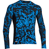 Under Armour Men's HeatGear Sonic Fitted Printed Long Sleeve