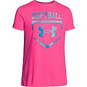 Under Armour Girl's Softball Sport T-Shirt