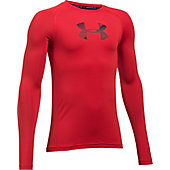 Under Armour Youth HeatGear Armour Long Sleeve Fitted Shirt