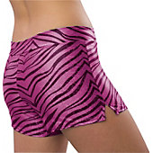 Pizzazz Womens Hot Pink Zebra Glitter Shorts