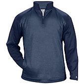 Badger Men's Pro Heather Tonal Fleece 1/4 Zip Pullover