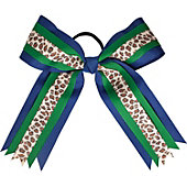 Powerbows Large Two-Toned Leopard Print Cheer Bow