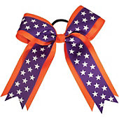 Powerbows Large Two-Toned Star Pattern Cheer Bow
