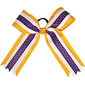 Powerbows Large 3-color Polka Dot Pattern Cheer Bow