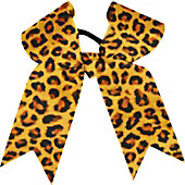 Powerbows Large Basic Leopard Print Cheer Bow