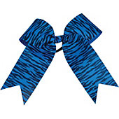 Powerbows Large Basic Zebra Print Cheer Bow
