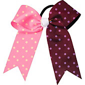 Powerbows Large Dual Color Polka Dot Cheer Bow