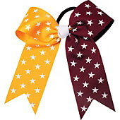 Powerbows Large Dual Color Star Pattern Cheer Bow