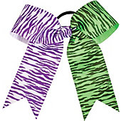 Powerbows Large Dual Color Zebra Print Cheer Bow