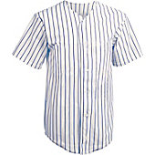 Teamwork Adult Full Button Pinstripe Baseball Jersey