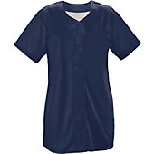TeamWork Women's Infinity Solid Faux Full Button Softball Jersey