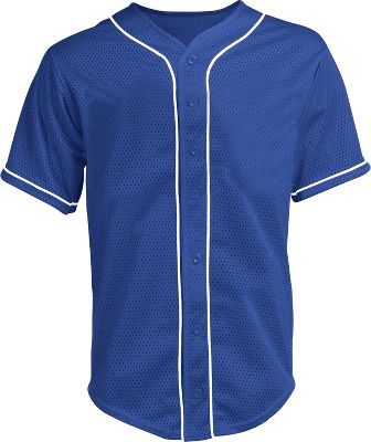 Teamwork Youth Full Button Mesh Baseball Jersey
