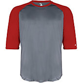 Badger Youth B-Baseball 3/4 Sleeve Shirt