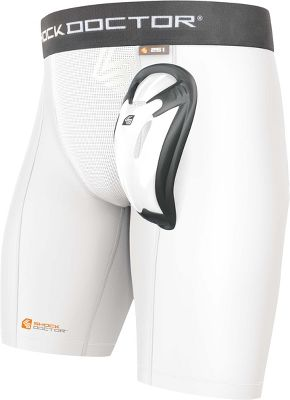 Shock Dr. Adult Core Double Compression Short w/ Cup 251AWHTXL