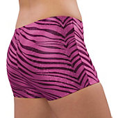 Pizzazz Adult Hot Pink Zebra Glitter Boy Cut Brief