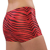 Pizzazz Adult Red Zebra Glitter Boy Cut Brief