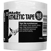 "Mueller MTape 1.5"" x 15YD White Athletic Tape (2 Pack)"