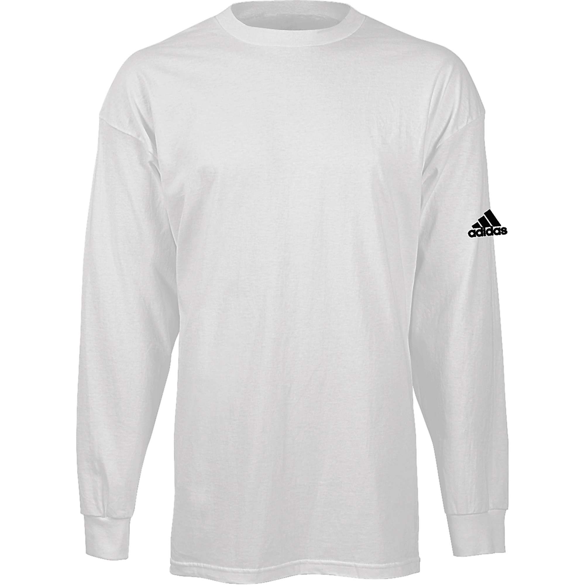 Adidas men 39 s long sleeve logo t shirt ebay for Adidas long sleeve t shirt with trefoil logo