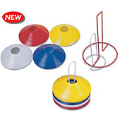 "Football America 2"" Plastic Cones With Stand - 40 pack"