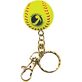 Markwort Mini Yellow Fastpitch Ball Keychain