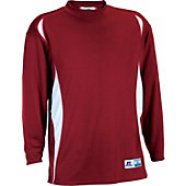 Russell Long Sleeve Adult Semi Mock Shirt