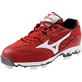 Mizuno Women's Finch G4 Red/Wht Low Molded Cleats