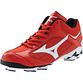 Mizuno Franchise G5 Red/Wht Mid Molded Cleats