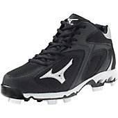 Mizuno Blaze Elite G2 Black/White Mid Molded Cleats