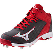 Mizuno Men's 9-Spike Swagger 2 Mid Metal Baseball Cleats