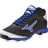 Mizuno Men's 9-Spike Vapor Elite 7 Mid Metal Baseball Cleats