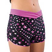Pizzazz Youth Pink Superstar Crossover Boy Cut Shorts