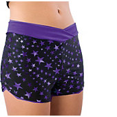 Pizzazz Youth Purple Superstar Crossover Boy Cut Shorts