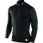 Nike Youth Pro Combat Hyperwarm Compression Mock Shirt